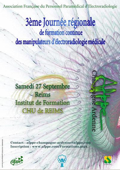 3ème Journée régionale de formation continue des manipulateurs - Région Champagne Ardenne