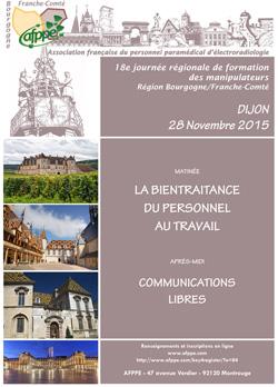 18è Journée régionale de formation continue des manipulateurs AFPPE Région Bourgogne-Franche-Comté