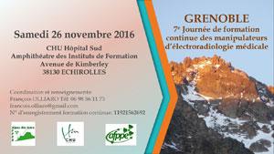 7ème Journée régionale de formation continue des manipulateurs - Région Alpes Ain Isère