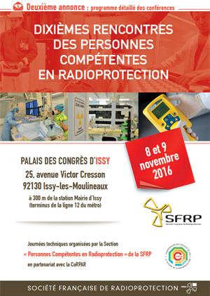 10èmes rencontres des Personnes Compétentes en Radioprotection