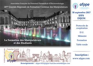 20e Journée régionale de formation continue des manipulateurs AFPPE Région Bourgogne-Franche-Comté