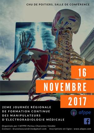 2e Journée régionale de formation continue des manipulateurs AFPPE Poitou Charente Vendée