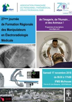 27e journée de formation régionale des manipulateurs - AFPPE Alsace