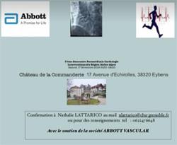 3ème rencontre paramédicale de Cardiologie Interventionnelle de la région Rhône Alpes