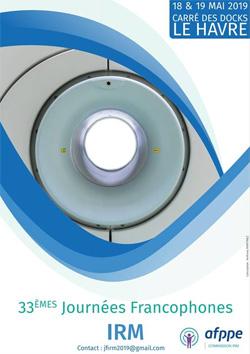 33èmes Journées Francophones d'IRM