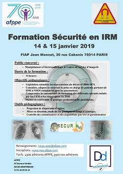 Formation Sécurité en IRM